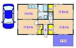 渡辺貸家 1階3DKの間取り
