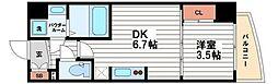 セレニテ堺筋本町SUD[13階]の間取り