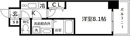 S-RESIDENCE阿波座WEST 6階1Kの間取り