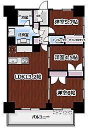 LIGHT TERRACE新宿御苑 14階3LDKの間取り