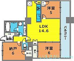 兵庫県神戸市中央区伊藤町丁目なしの賃貸マンションの間取り