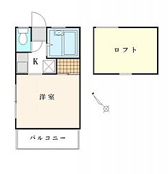 神奈川県横浜市港南区笹下2丁目の賃貸アパートの間取り