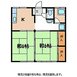 綿屋荘[2階]の間取り