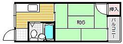 田中第一ビル[4階]の間取り