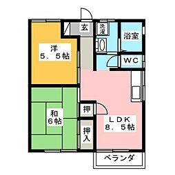 コーポ後藤[2階]の間取り