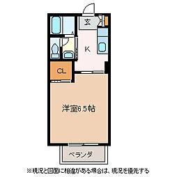 サニーコート井川城[2階]の間取り