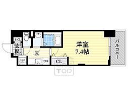 ラグゼ新大阪5 6階1Kの間取り