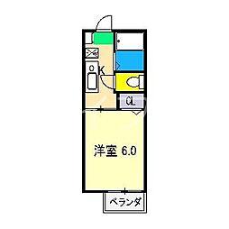 アメニティ土居 A棟[2階]の間取り