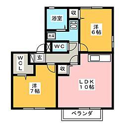 セジュールミキE[2階]の間取り
