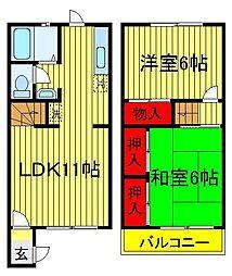 [テラスハウス] 千葉県我孫子市並木8丁目 の賃貸【/】の間取り