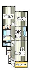 グランソレイユ[1階]の間取り