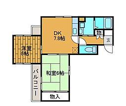 神奈川県川崎市麻生区百合丘3丁目の賃貸マンションの間取り