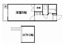 花園ハイツ[2階]の間取り