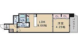 B-PROUD江戸堀[1102号室]の間取り