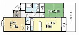 アルカディア[1階]の間取り