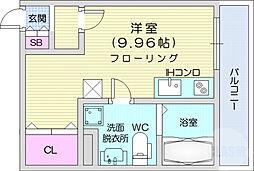 JR東北本線 東仙台駅 徒歩36分の賃貸アパート 3階ワンルームの間取り