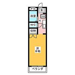 ワタナベマンション[1階]の間取り