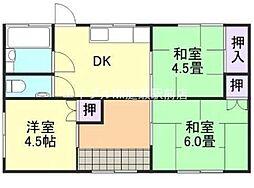[一戸建] 岡山県倉敷市羽島丁目なし の賃貸【/】の間取り