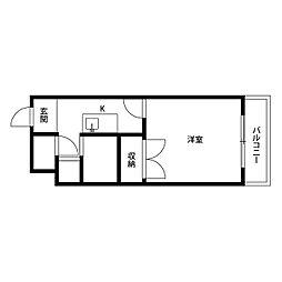 プレジール 西ノ京[103号室]の間取り