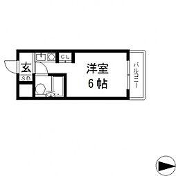 エクセルシオール長田[803号室号室]の間取り