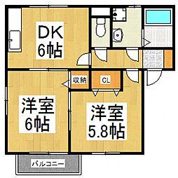 すみやハウスB[1階]の間取り
