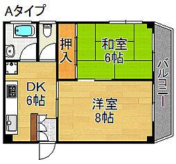 サンコーハイツ[4階]の間取り