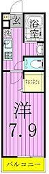 埼玉県八潮市八潮5丁目の賃貸アパートの間取り