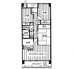 KDXレジデンス茨木II(旧:レガーロ茨木II)[0306号室]の間取り