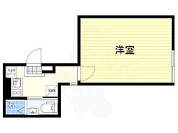JR中央線 荻窪駅 徒歩10分の賃貸マンション 3階1Kの間取り