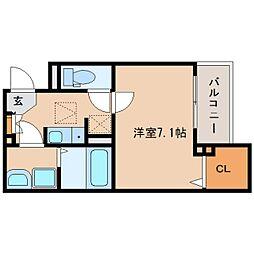 奈良県奈良市大宮町4丁目の賃貸アパートの間取り