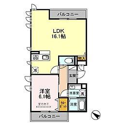 CRESCENTE経堂 壱番館[2階]の間取り