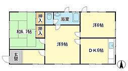 [一戸建] 兵庫県赤穂市大津 の賃貸【/】の間取り