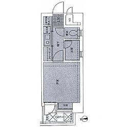 ピュアドーム大濠アクレーム[6階]の間取り