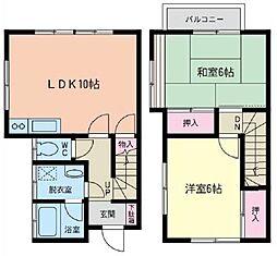 [テラスハウス] 神奈川県相模原市南区相南3丁目 の賃貸【/】の間取り