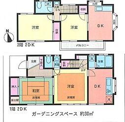 [一戸建] 神奈川県横浜市西区浅間台 の賃貸【/】の間取り