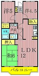 第10パールメゾン蒲田[105号室]の間取り
