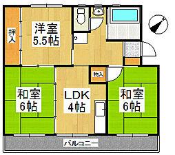 第1オーキッドビル[3階]の間取り