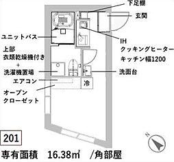 新築 レスタ大井町[201号室号室]の間取り