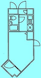 DOM二子新地[2階]の間取り