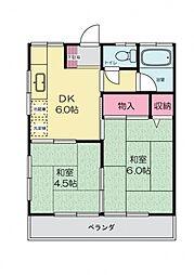 沢田荘[203号室号室]の間取り