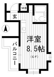 クリスタル東高円寺[3階]の間取り