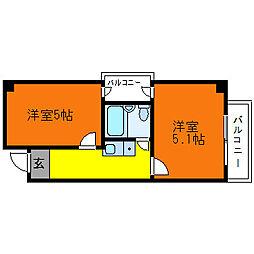 ラペール一番館[8階]の間取り