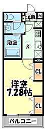 仙台市地下鉄東西線 連坊駅 徒歩6分の賃貸マンション 1階1Kの間取り