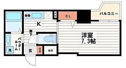 レジデンス心斎橋[14階]の間取り