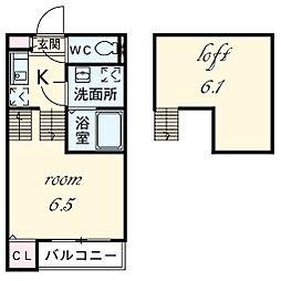 アーク東海通[2階]の間取り