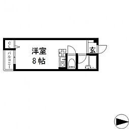 ピア小阪[301号室号室]の間取り