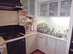 キッチンは収納豊富なL型キッチンです。