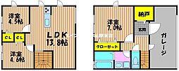 [タウンハウス] 岡山県岡山市北区奥田本町丁目なし の賃貸【/】の間取り
