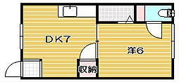 プリンスハウス[13号室]の間取り