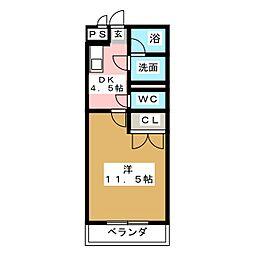 HANAYASHIKI[3階]の間取り